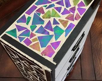 Stained Glass Mosaic Jewelry Box