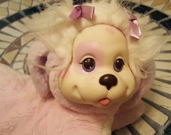 HASBRO Puppy Surprise pink body white hair lavender purple bow Plush Boys Girls No Babies