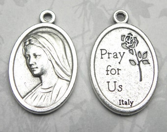 Our Lady of Medjugorje Holy Medal, Catholic Gift, Gospa, Marian Apparition, Virgin Mary, Blessed Mother
