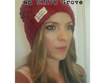 The Slouchy Beanie in Cherry