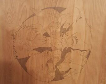 Drawings on Sanded Wood