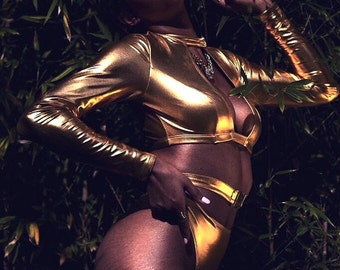 Gold Swimsuits, Gold Bikini---Medusa---