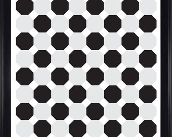 Black & Grey Octagons