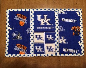 University of Kentucky snack mat, mug rug, Quiltsy handmade