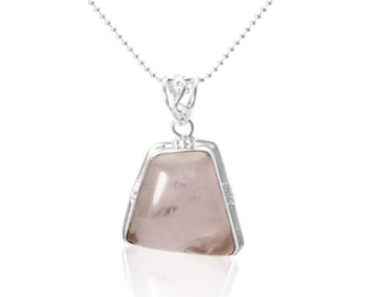 Hand Crafted One of a Kind Rose Quartz Pendant