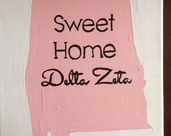 Sweet Home Delta Zeta Canvas