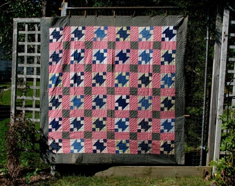 Antique Summer Quilt, Vermont, early 1900's