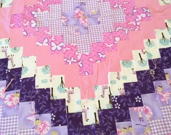 Baby Girl Quilt - Pinks and Purples