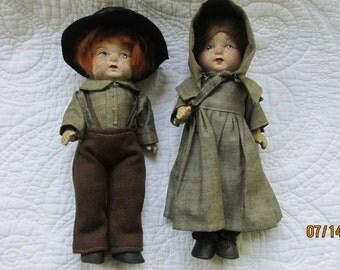 Vintage Amish dolls
