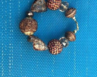 Beaded Brown Earth Tone Bracelet