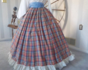 1  civil   war/victorian/etc.skirt and sash. Ready to ship
