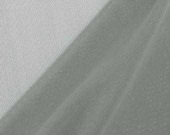 Nylon Spandex Performance Power Mesh Fabric - 10 yards - Grey (LF2)