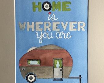 Home - Original Watercolor painting