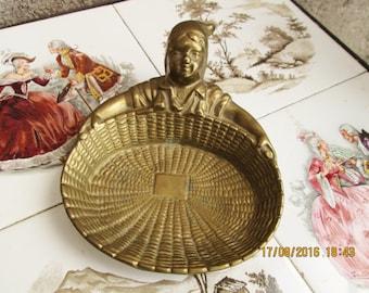 Vintage French Bronze, ashtrays, card holders, kitschy items, key trays, jewelry trays