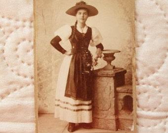VINTAGE FRENCH PHOTO, french costumes, 1800's photos, swiss photos, black & white photos