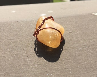 Wrapped Citrine