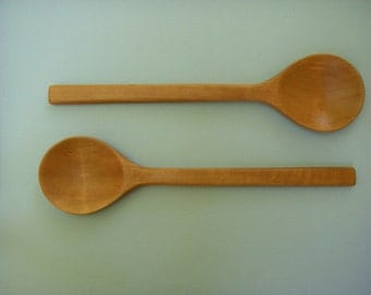 pear wood salad servers