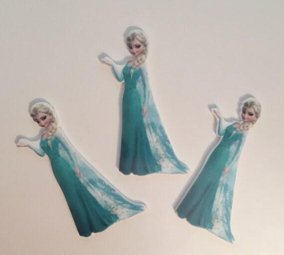 Reduced 3 Elsa Princess Frozen Planar Resin. Flatback cabochon bow centre embellishments laser cut shrinky dink. Jewellery making Diy Brooch