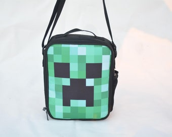 Lunch Bag Messenger Minecraft Inspired New School Bag