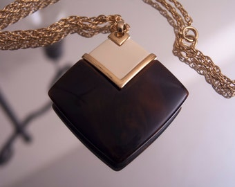 Trifari Modernist Lucite Necklace with Goldtone Chain