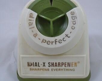 Vintage Knife Sharpener Dial-X Sharpener Dial-A-Perfect-Edge