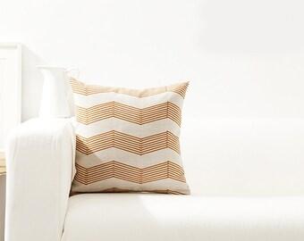 18'' modern geometric pattern linen pillow