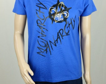 "T-shirt royal blue man ""ANARCHY MONARCHY"""