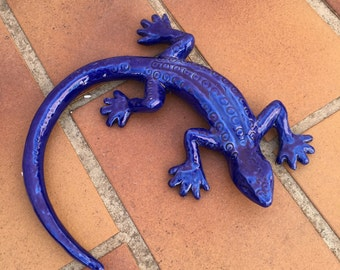 French SALAMANDER WALL DECORATIVE provence moustier handmade 4