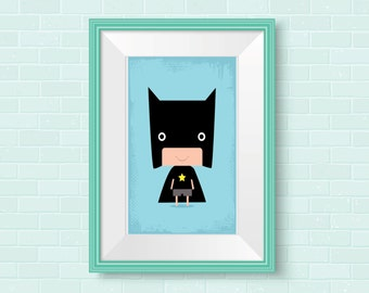 Nursery Wall Art, Superhero Nursery Wall Decor, Nursery Art, Superhero Nursery Prints,  Kids room Print, Modern Nursery Art, Superhero Print