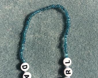 Damn Girl Blue Friendship Bracelet ©