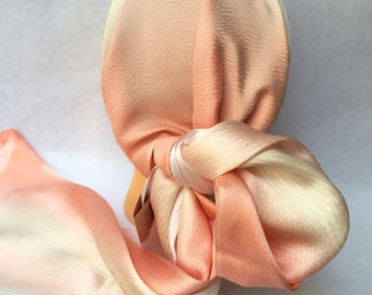 Japanese silk scarf -rose/lavender gradation