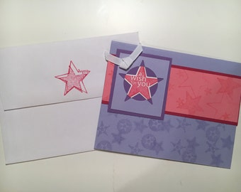 """Set of 3 handmade """"A Wish for You"""" cards with matching envelopes"""