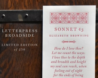 Sonnet 43 Broadside - Limited Edition!