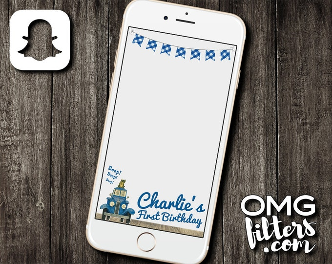 Little Blue Truck Geofilter - Custom Snapchat Filter