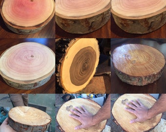 Natural WOOD Centerpiece's in Maple, Walnut, Pine and Pecan