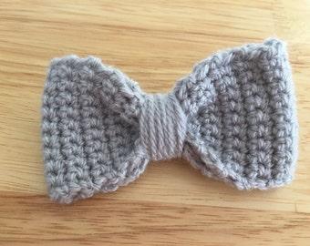 Handmade crochet hair bow