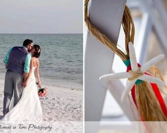 Beach Wedding Aisle Chair/Pew Decorations