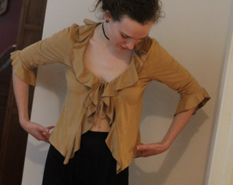 Microsuede Blouse