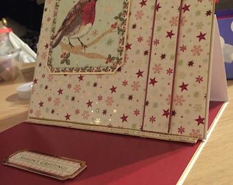 Robin easel card