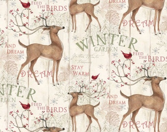 Christmas Holiday Winter Garden Fabric From Springs Creative