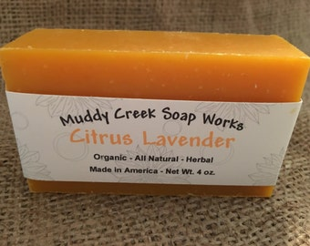 Organic - Citrus Lavender Bar Soap