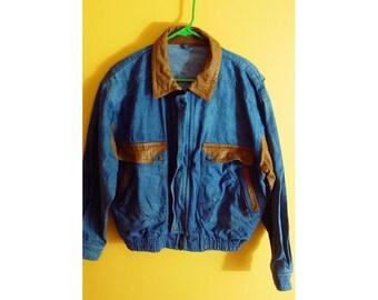 Vintage Denim & Leather Jacket
