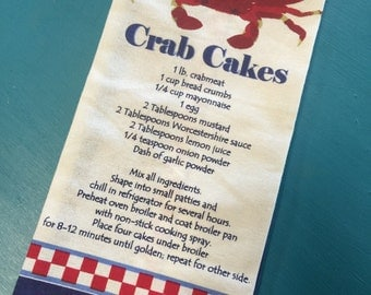 Crab Cakes Kitchen Towel