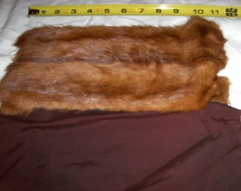 Mink fur reminant with lining.