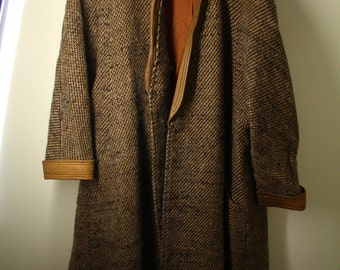 Vintage Baccarat oversized long tweed coat - size 10