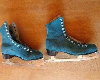 Vintage Daoust Caprice Suede Figure Skates