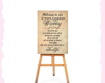 PRE-PRINTED Wedding Welcome Sign Ready To Use Reception ceremony engagement vintage Rustic Shabby Chic Elegant Bridal thank you - fast post