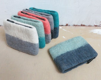 LILA Handmade Felt Purse in various colours