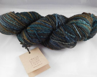 Handspun Blue Faced Leicester Heavy Worsted Wool Yarn Dyed by Briar Rose Fibers