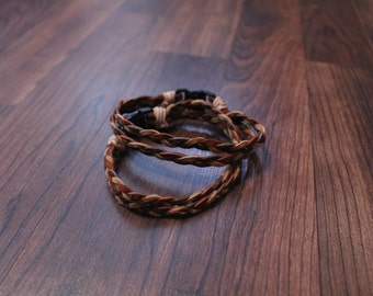 French Braid Leather Bracelet